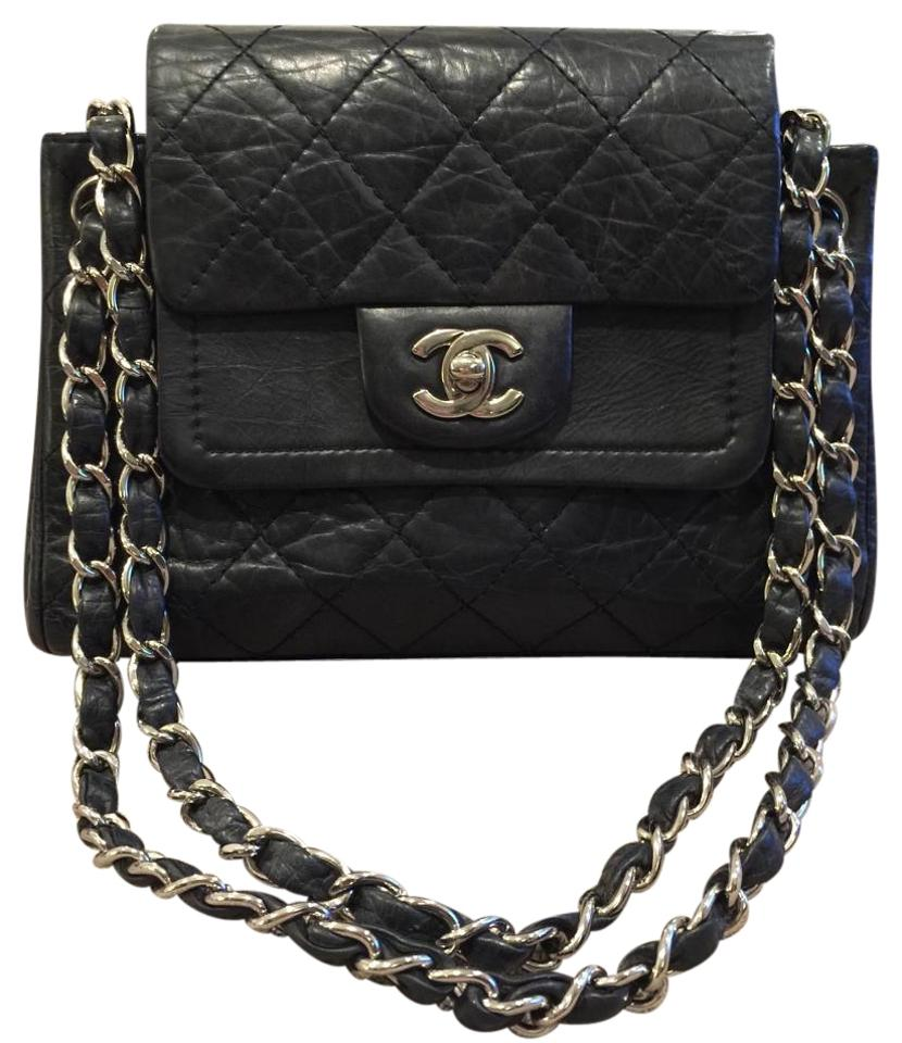 f1c7904c0f4b Chanel Double Flap Sac rabat Quilted Accordion Tote Aged Calfskin ...