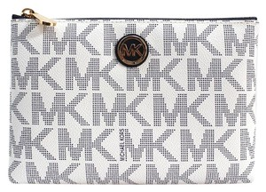 Michael Kors NEW Fulton Travel Pouch Signature Navy/White & Cosmetic Case