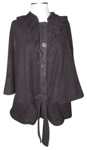 Gap Poncho Cape Ruffle Belted Sweater