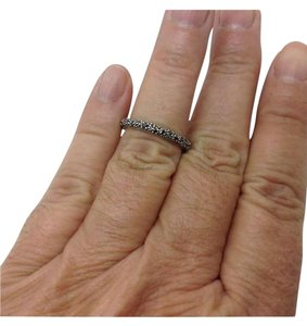 David Yurman size 6, sterling silver, diamond, Midnight Melange ring, band