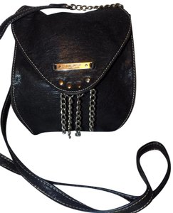Nine West Chain Studded Distressed Strap Cross Body Bag