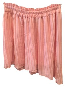 Zara Mini Pleated Asymmetrical Mini Skirt Pink