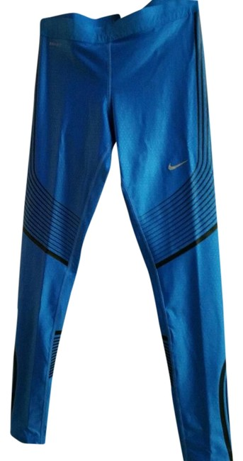 Item - Blue/Blk Power Speed Running Tight Activewear Bottoms Size 4 (S)