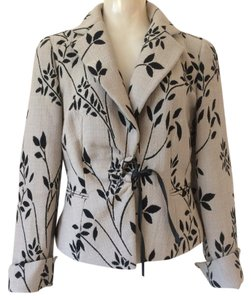 Armani Collezioni Taupe with black leaves & branches Jacket