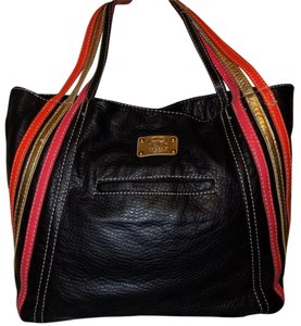 Marc Ecko Retro Strappy Faux Leather Color-blocking Bold Shoulder Bag