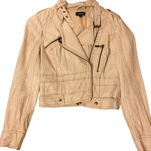 bebe Beige Leather Jacket