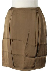 Stella McCartney Sateen Skirt Bronze