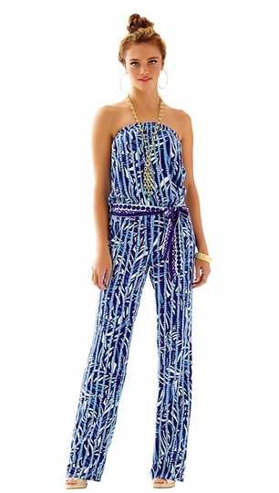 7e244aa2fe8 80%OFF Lilly Pulitzer Blue Tia Strapless Romper Jumpsuit - 56% Off Retail