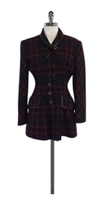 Ralph Lauren Navy Green Red Plaid Coat