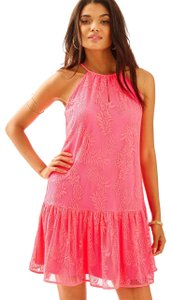Lilly Pulitzer short dress Pineapple Knit Lace Pink on Tradesy