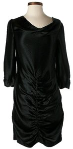 ALICE by Temperley Textured Silk Ruched Longsleeve Dress