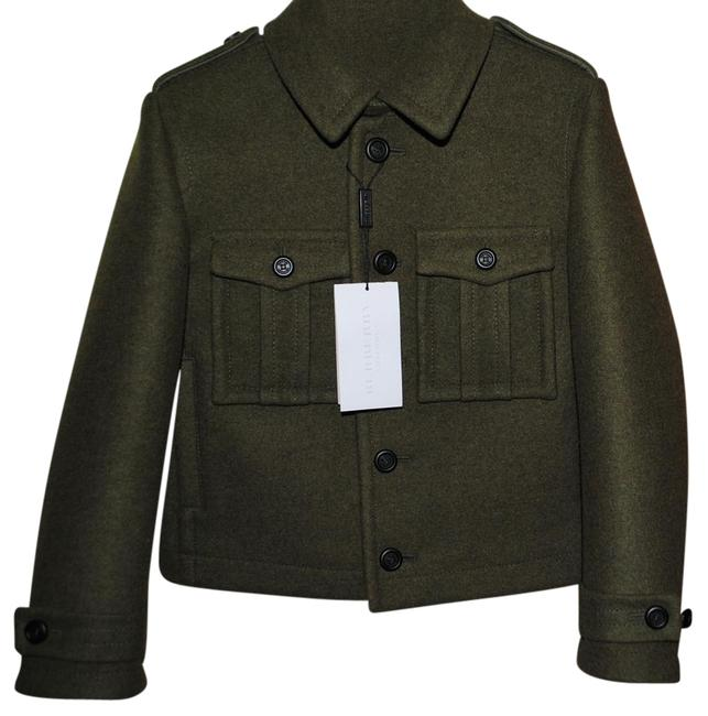 Burberry Olive Military Boys Coat Size 8 (M) Burberry Olive Military Boys Coat Size 8 (M) Image 1