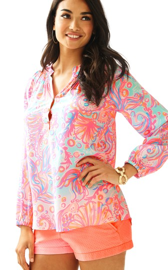 0f806ff17de12 low-cost Lilly Pulitzer Too Much Bubbly New Elsa Top