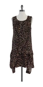Theory short dress Brown Multi Color Print Drop Waist on Tradesy