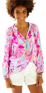 Lilly Pulitzer Top Multi Jam Out