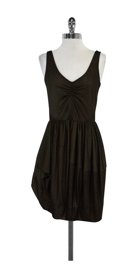 Marc By Jacobs Short Dress Gold Black Gathered On Tradesy