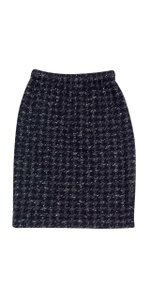 St. John Black & White Houndstooth Skirt