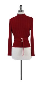 St. John Red Knit Sweater