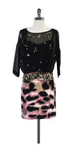 Diane von Furstenberg short dress Black Jeweled Printed on Tradesy
