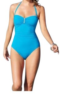 Calvin Klein Calvin Klein blue bandeau one piece swimsuit