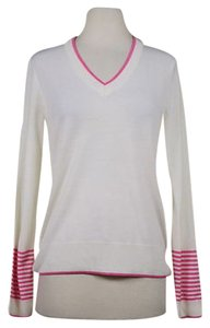 Brooks Brothers Pink V Wool Sweater