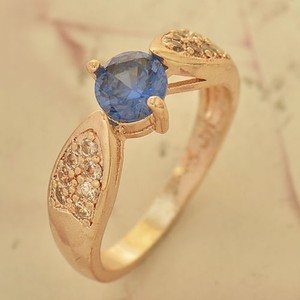 Blue & White Zircon Fashion Ring Free Shipping