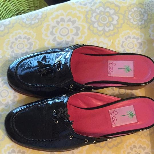 Lilly Pulitzer Black Mules