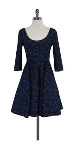 Tracy Reese short dress Blue & Black Lace Fit & Flare on Tradesy