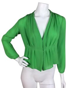 J.Crew Silk Top Green