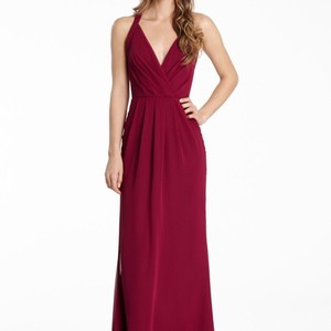Jim Hjelm Bordeaux Jim Hjelm 5550 Chiffon Bridesmaids Dress Dress