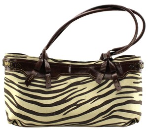 Liz Claiborne Tote in Brown, Cream White