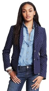 Banana Republic Blue Polka Dot Blazer
