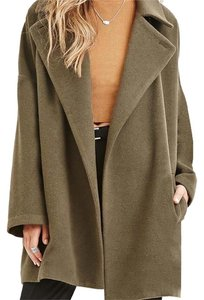 Forever 21 Wool Trench Winter Holiday Pea Coat