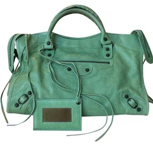 Balenciaga Satchel in Mint green