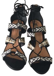 SCHUTZ Multi - Rattan/black/white Sandals