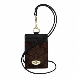 Coach F63274 Signature Lanyard ID Case