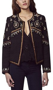 Love Sam Clothing New Chic Classic Embellished Sequin Quilted Blazer Spring Summer Black Jacket