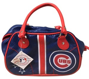 MLB Cubs purse Satchel in Red, Cubbies blue, and white