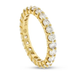 Other 2.15 CT Natural Round Diamond Eternity Band in Solid 14k Yellow Gold