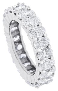 Other 4.89 CT Natural Oval Diamond Eternity Band in Solid 14k White Gold