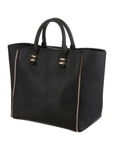 Rebecca Minkoff Zipper Accent Like New Tote in Black