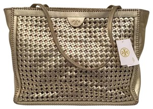 Tory Burch Tote in Light Gold