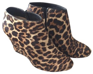 Christian Louboutin leopard,black Boots