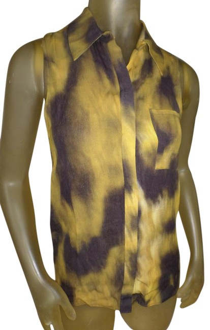Item - Golden Sky And Sleeveless Cutout Button-down Top Size Petite 4 (S)
