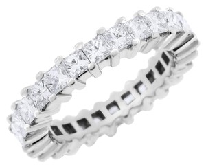 Other 3.00 CT Natural Princess Cut Diamond Eternity Band in Solid 14k White