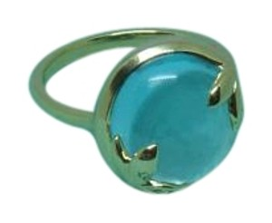 Tiffany & Co. Picasso Olive Leaf 6ct blue topaz 18k Yellow Gold Ring 7