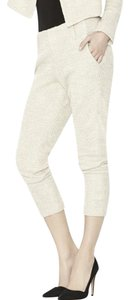 Alice + Olivia Capri/Cropped Pants Cream/Black Tweed
