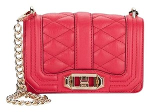 Rebecca Minkoff Mini Love Diamond Quilted Leather Cross Body Bag