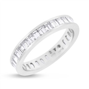 2.70 CT Natural Baguette Diamond Eternity Band in Solid Platinum