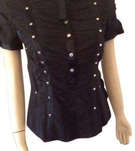 Karen Millen Top Black silk.